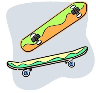 Skateboard ramp clipart 6.
