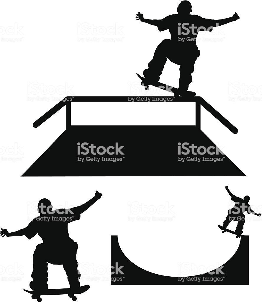 Skateboard ramp clipart 1 » Clipart Portal.
