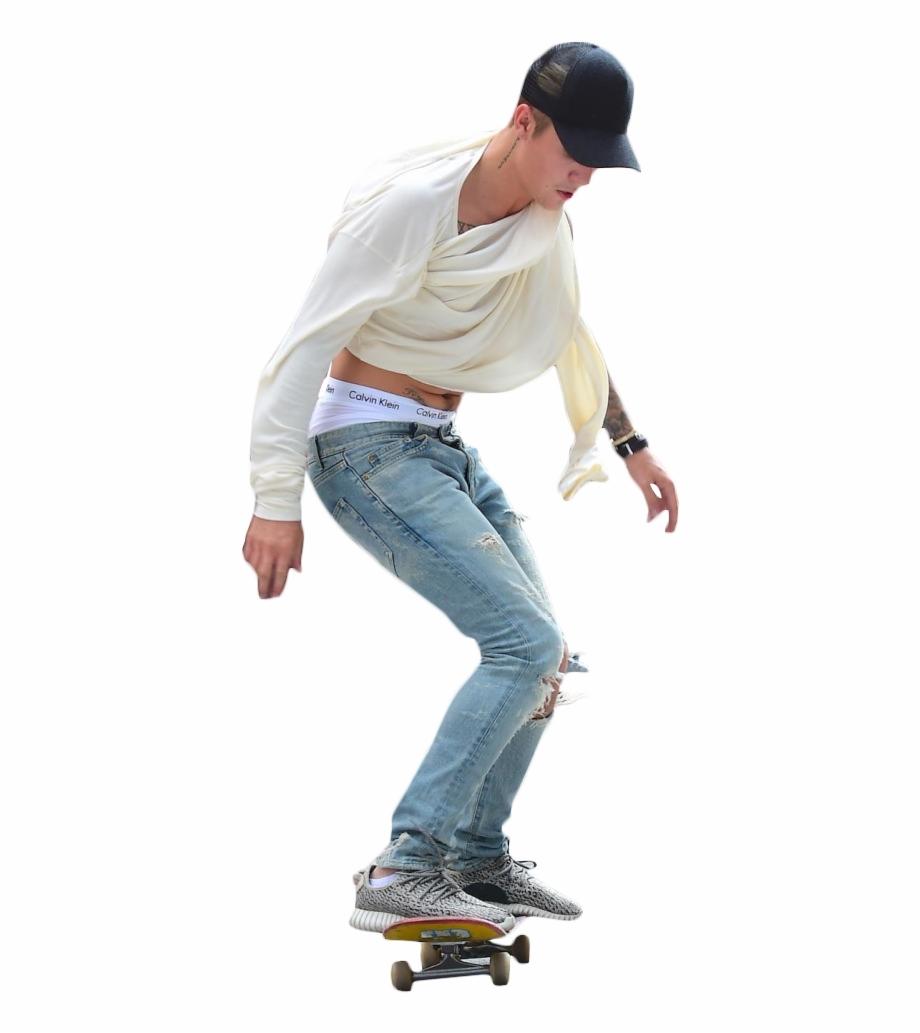 Justin Bieber Skateboarding.