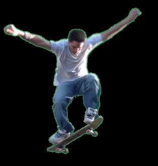 Skateboarder Jumping transparent PNG.