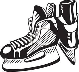 Hockey Skates Pair Clipart.