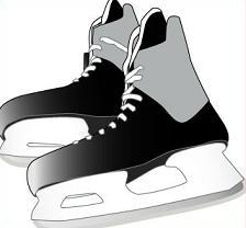 Hockey Skate Clipart.