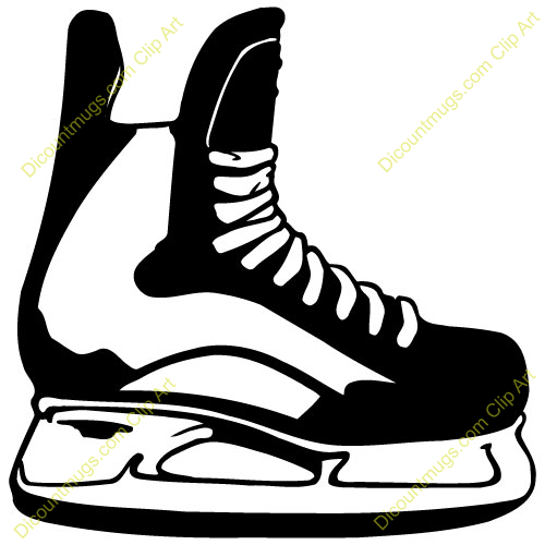 Hockey Skates Clipart.