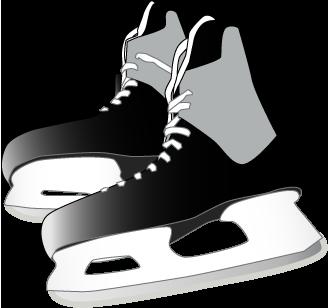 Clip Art Hockey Skate Clipart.