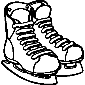 Skating shoes clipart.