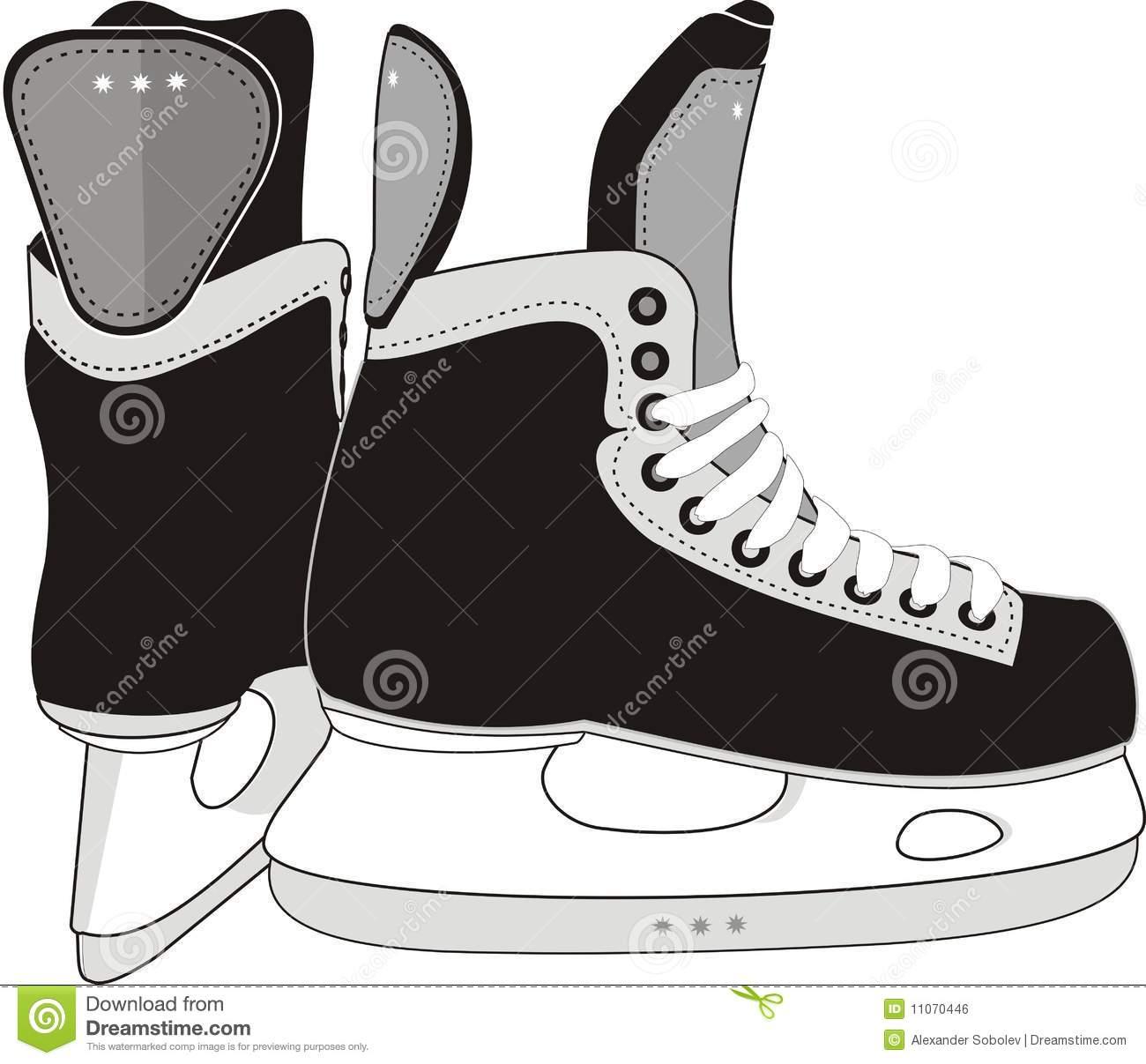 Hockey skates clip art free.