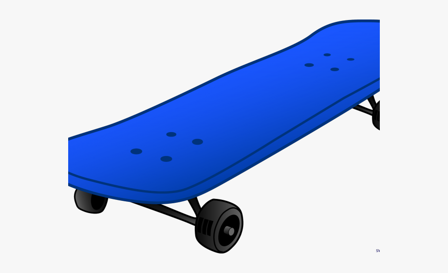 Skateboard Clipart Blue.