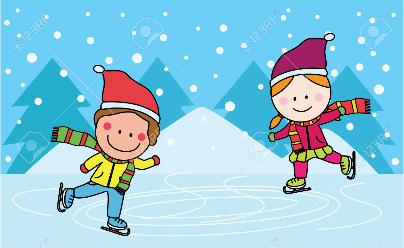 Ice Skating Rink Clipart.