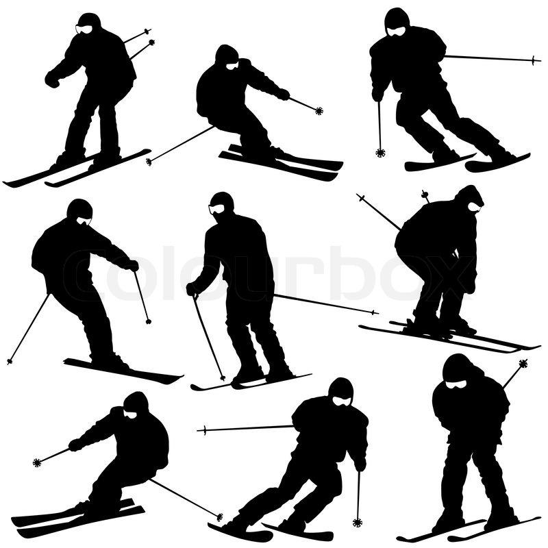 Skating slopes clipart #2