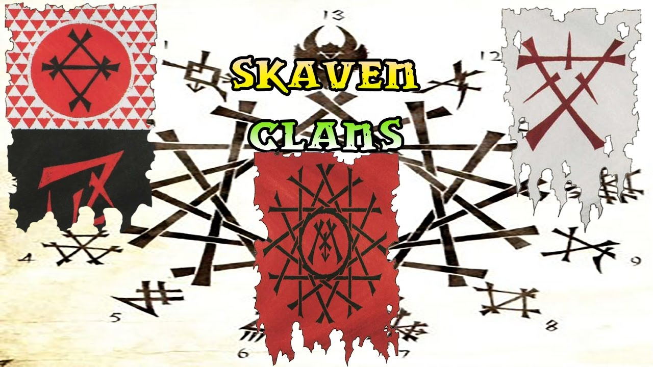 Warhammer Lore, Skaven Clans, The Council and the TWW2 Logo!.