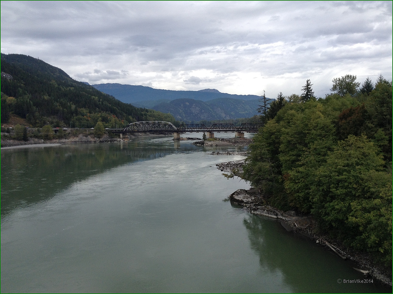Northern Interior British Columbia: Old Skeena Bridge Over The.