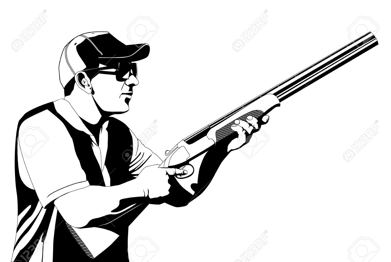 Trap Shooting Clipart.