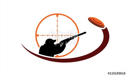 Skeet shooting logo\