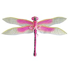 Pink dragonfly clipart.