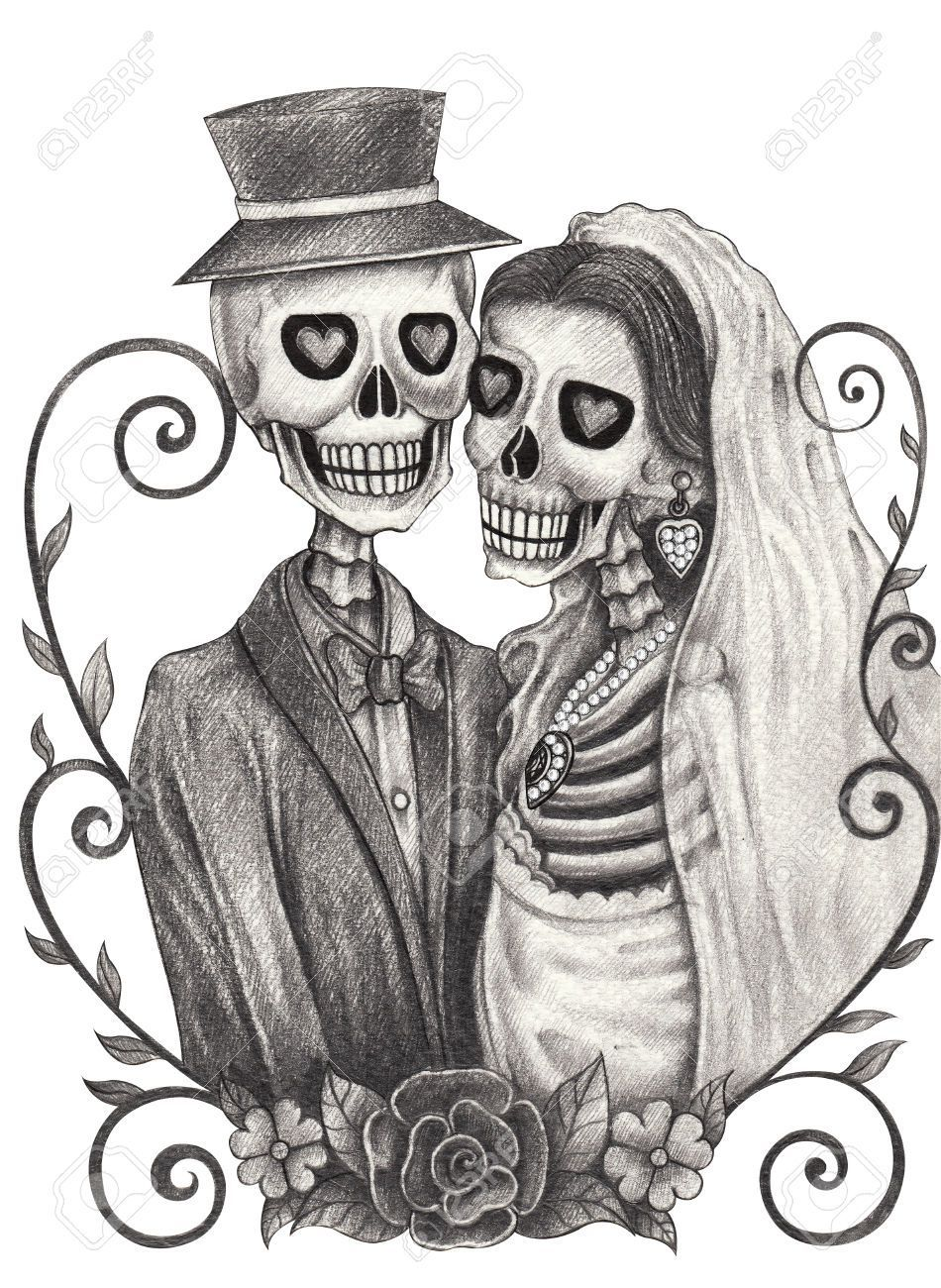 Skeleton bride and groom clipart 8 » Clipart Portal.