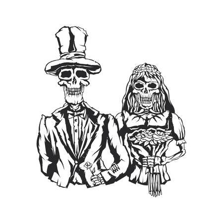 Skeleton bride and groom clipart » Clipart Portal.