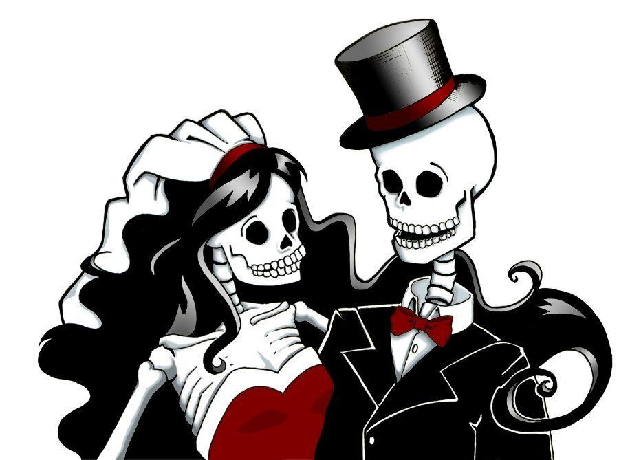 Download skeleton bride and groom clipart La Calavera.