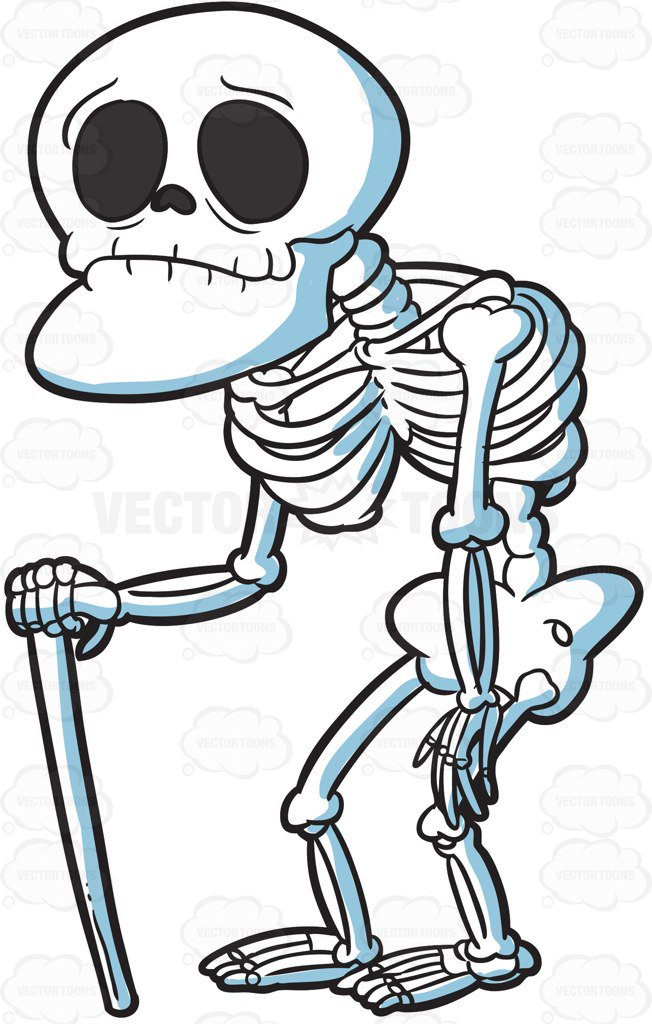 Cartoon Skeleton Clipart.