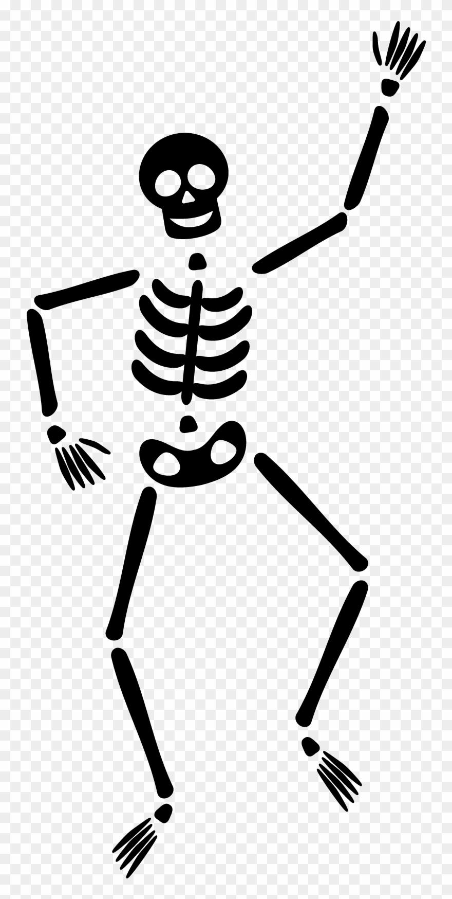 Dancing Skeleton Clipart.