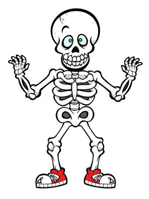 Skeleton clip art for kids free clipart images.