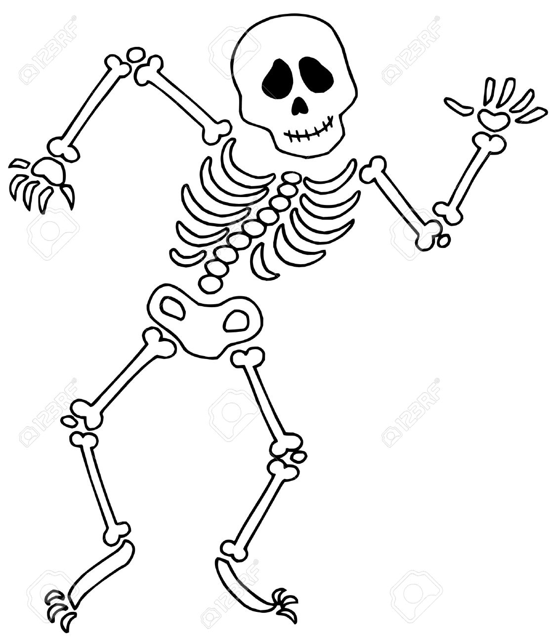 65+ Skeleton Clipart.