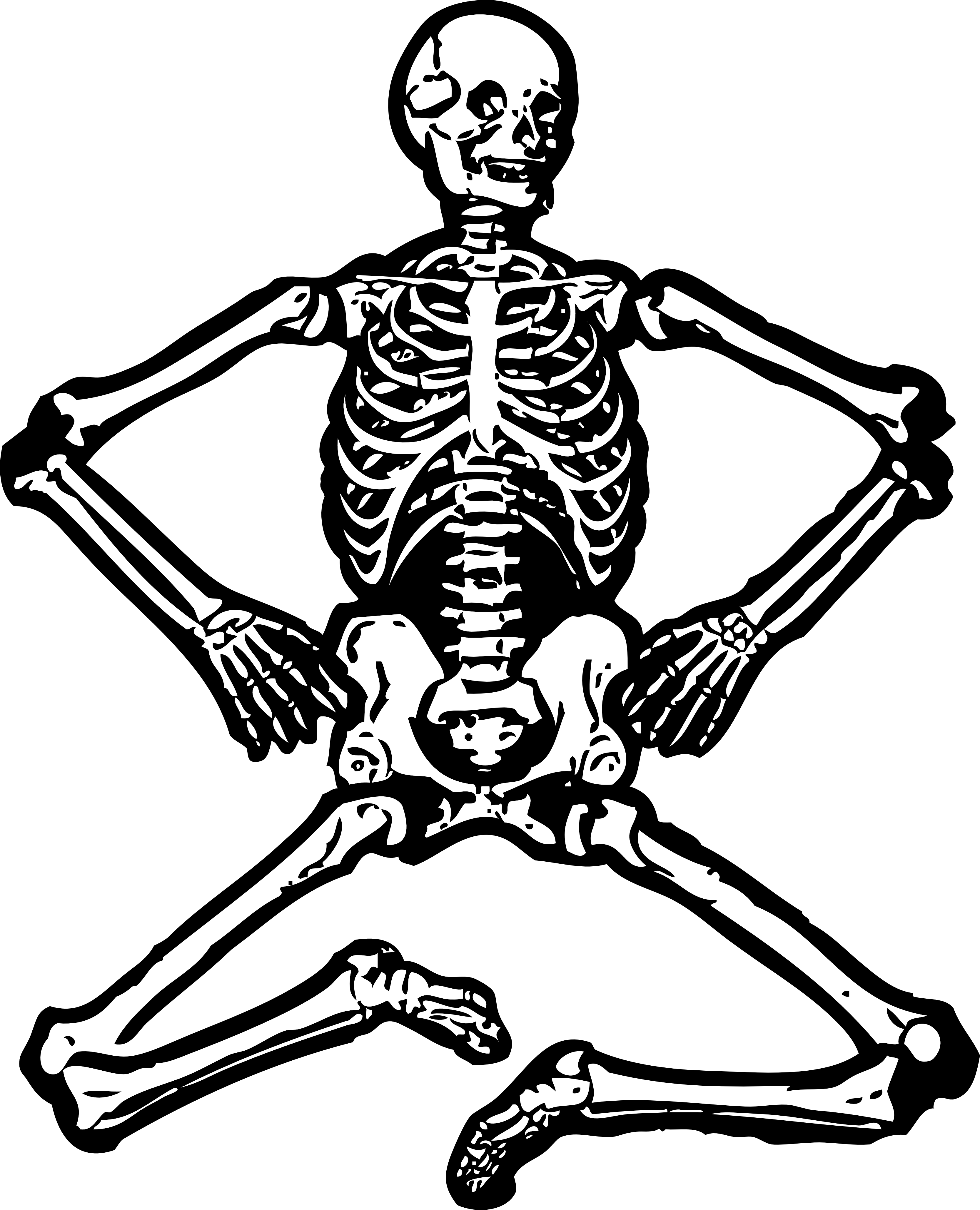 Skeleton clip art free clipart images 3.