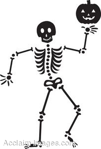 Cute Halloween Skeleton Clipart.