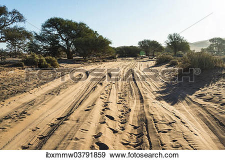 "Stock Photograph of ""Sandy slopes, Sossusvlei, Namib."