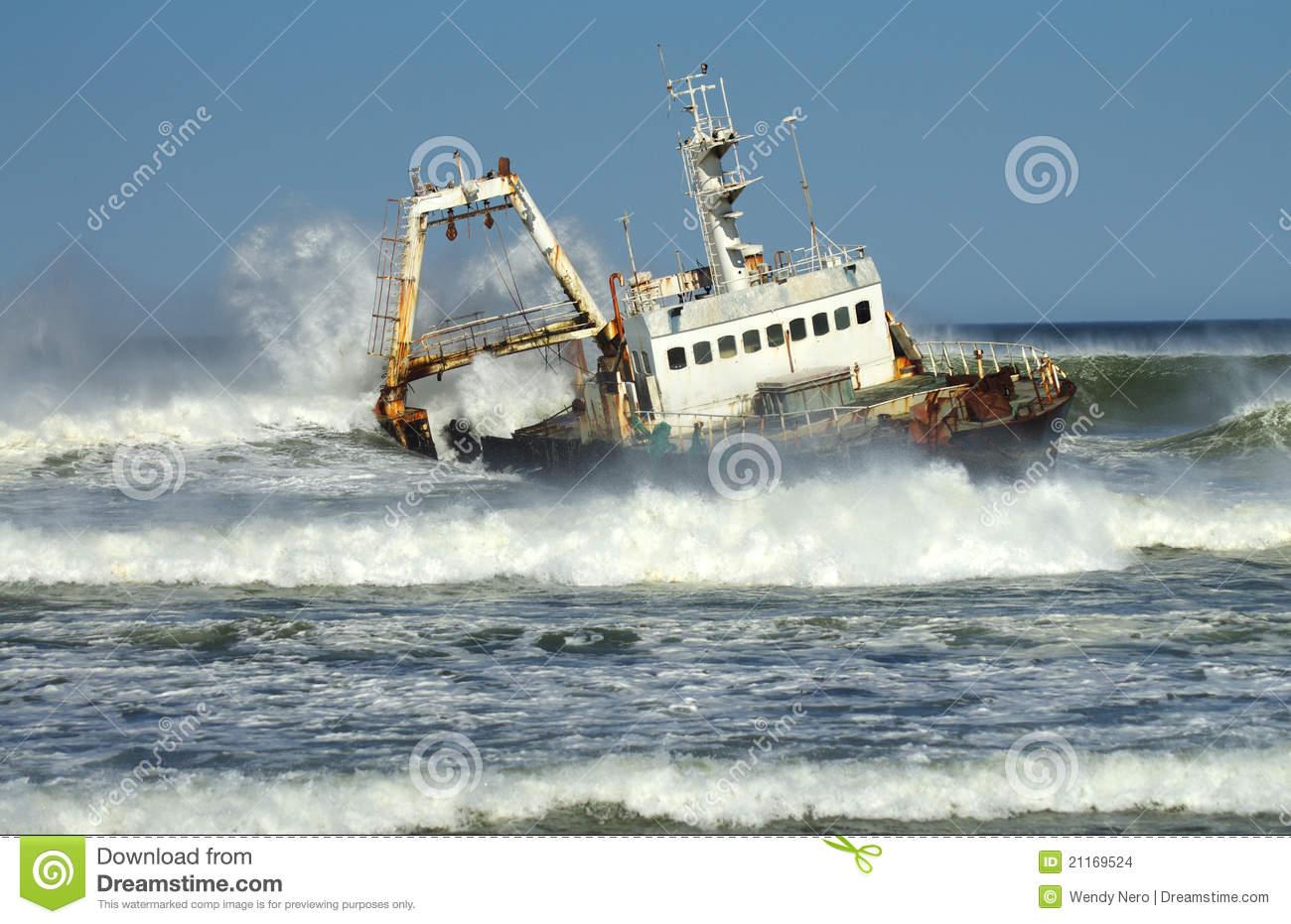Skeleton Coast Shipwreck Stock Images.