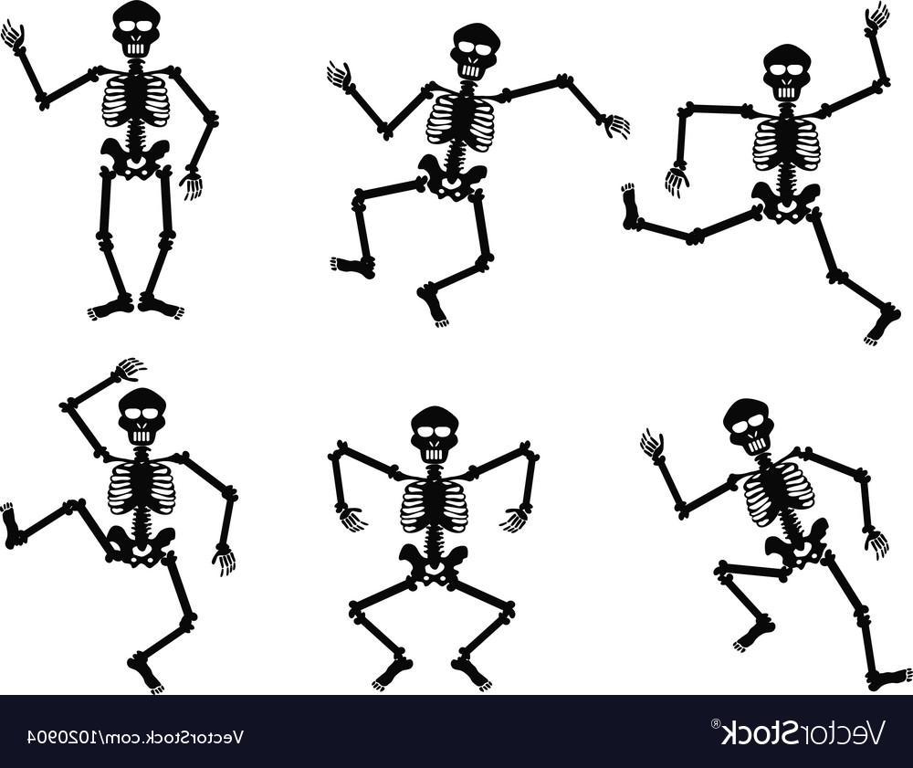 Top Dancing Skeleton Clip Art Design » Free Vector Art.