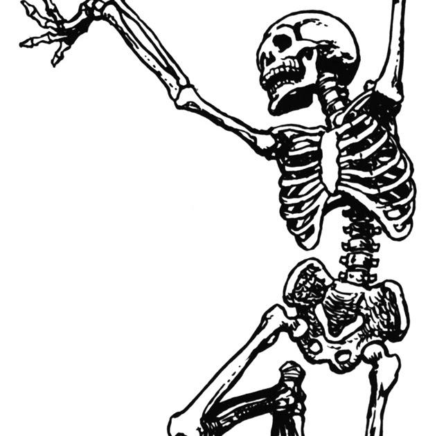 Skeleton Clipart Black And White.