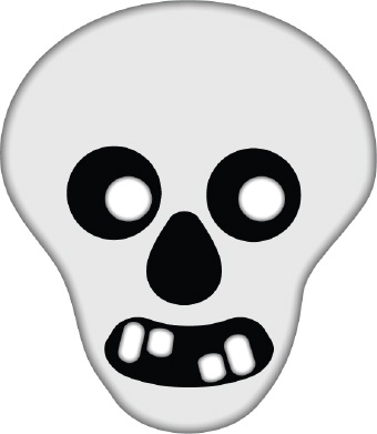 Skeleton Face Clip Art.