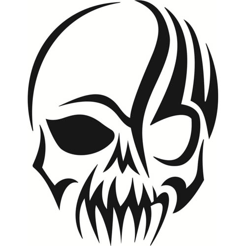 skeleton face clipart - clipground
