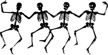 Dancing Skeletons clip art vector, free vector graphics.