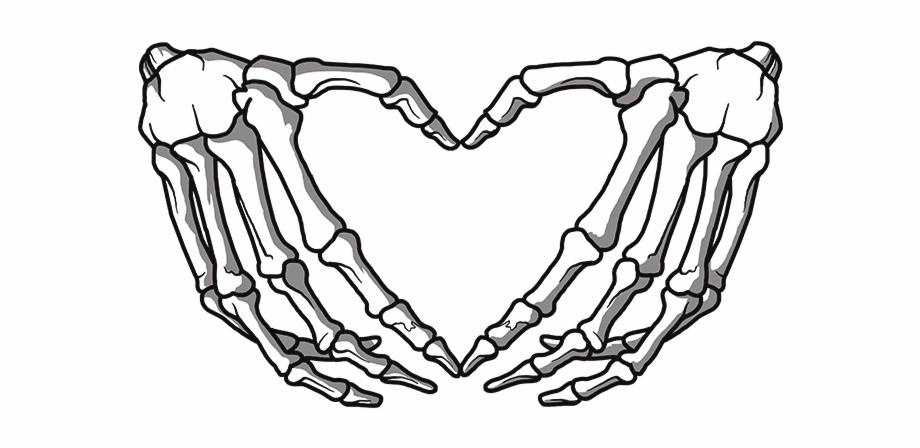 Clipart Skeleton Hands Heart.