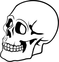 Halloween Skeleton Head Clipart.