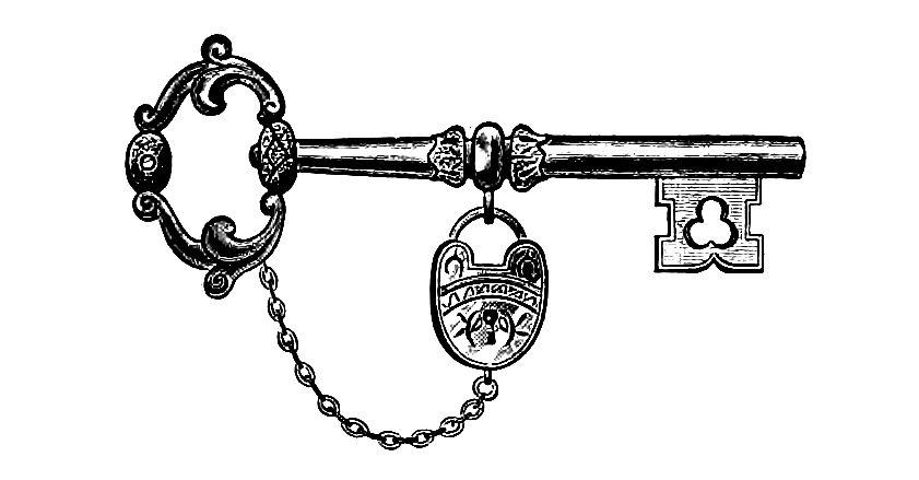 Skeleton Key Clipart.