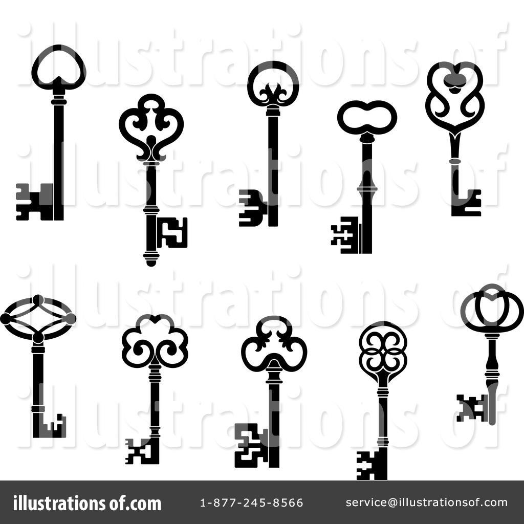 Skeleton Key Clipart #1118313.