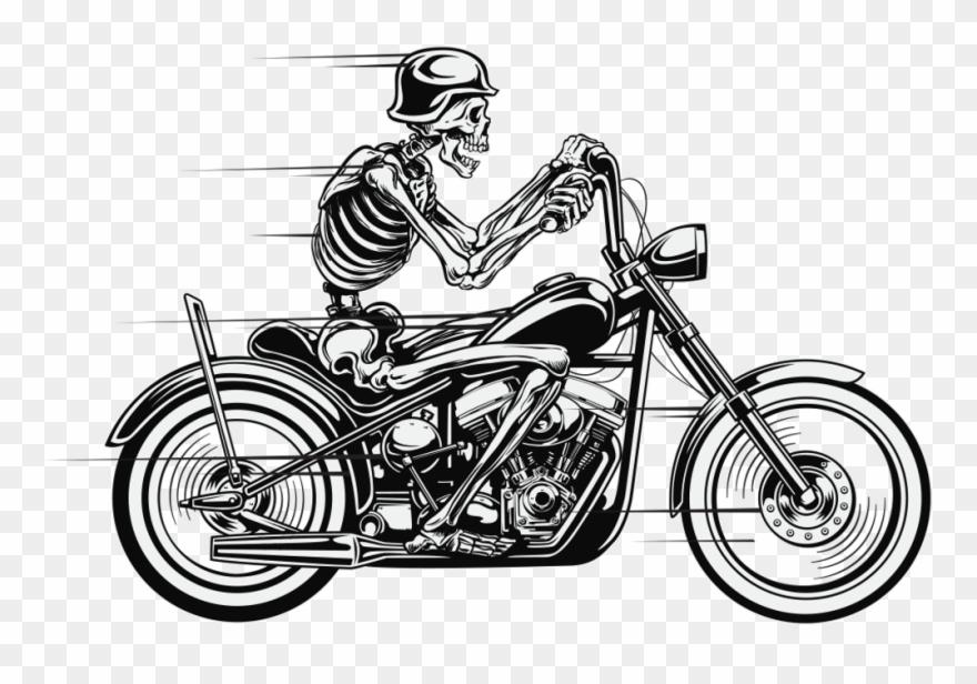 Skeleton Bike Biker Bikeride Skelett Motorbike Motorrad.