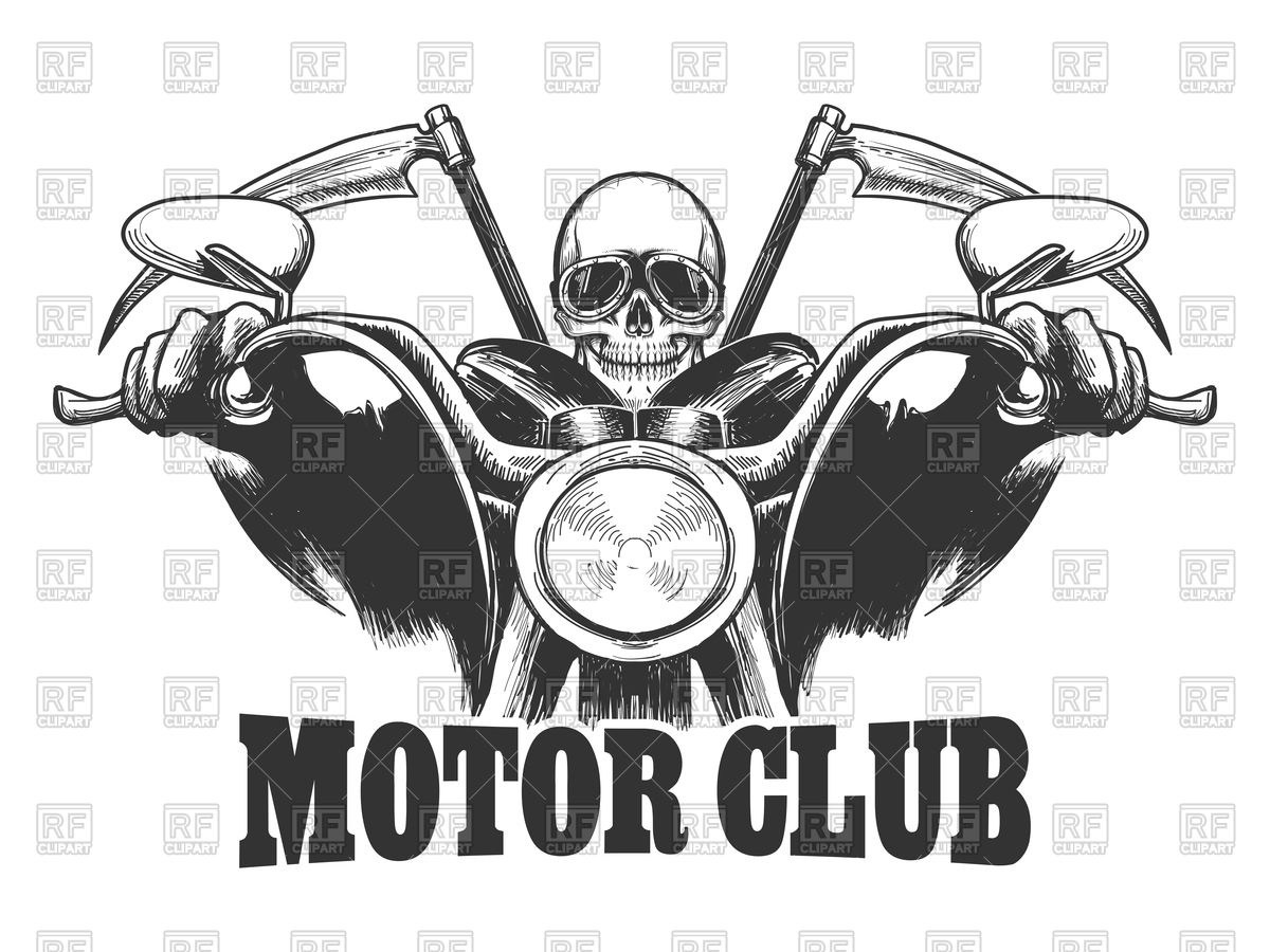 Skeleton on motorcycle clipart 9 » Clipart Portal.