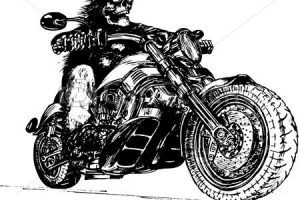 Skeleton riding motorcycle clipart 2 » Clipart Portal.