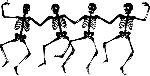 Dancing Skeletons clip art Free vector in Open office.