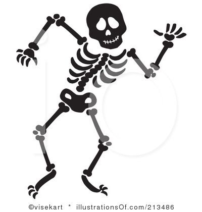 Halloween Skeletons Clip Art.