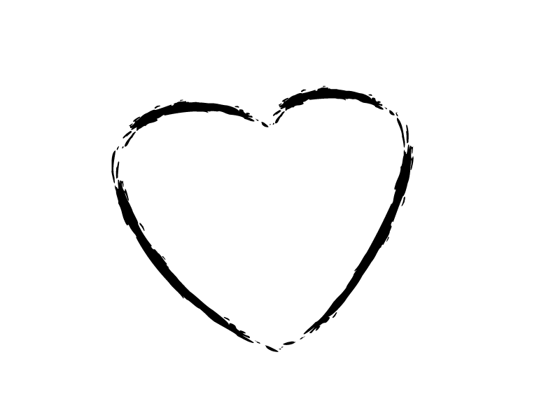 Heart Outline Sketch transparent PNG.