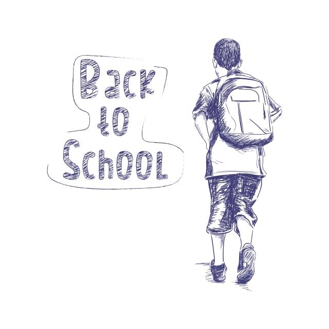 Back To School Sketch People Boy, School, Back, Sketch PNG.