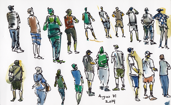 Sketch People @ Costco\'s Food Court.