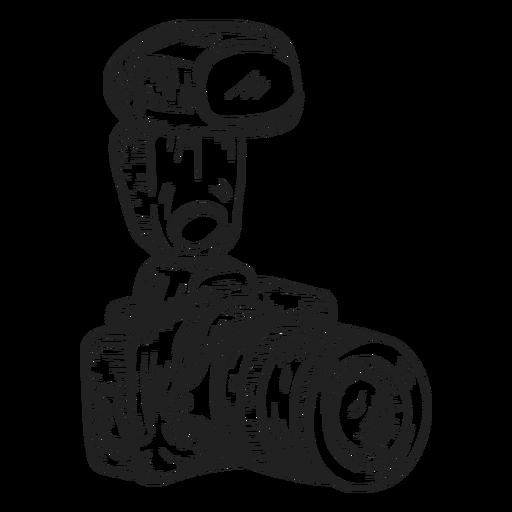 Digital photo camera sketch.