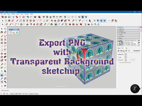 Export PNG with Transparent Background in sketchup.