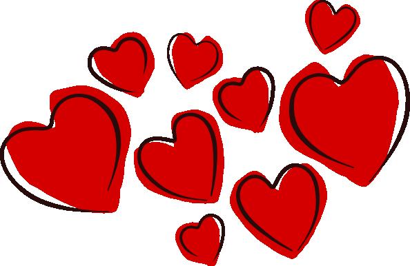 Sketchy Hearts clip art Free Vector / 4Vector.