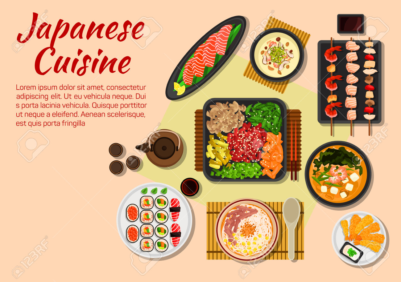 Japanese Stylized Grilled Beef Yakiniku Flat Icon Served With.